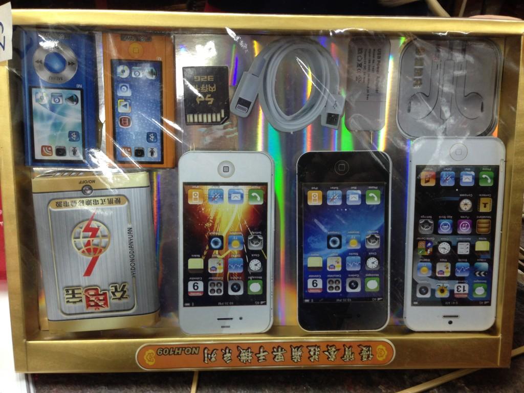 Sogar ganze iPhone-Sets lassen mit in den Himmel nehmen.